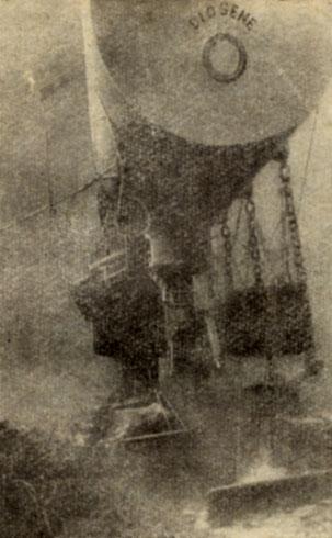 Двухместный подводный дом 'Диоген' 'Диоген' был установлен на глубине 10 м неподалеку от Марселя. Два акванавта прожили в нем 7 дней